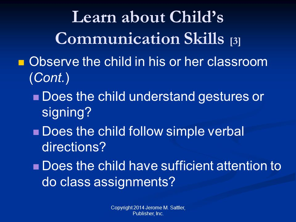 Learn about Child's Communication Skills [3]